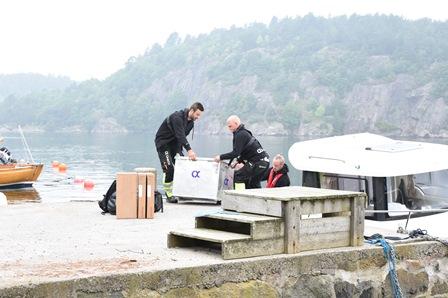 smart strøm montør som laster i båt