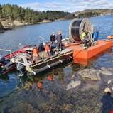 Ny sjøkabel styrker strømnettet på Tromøya
