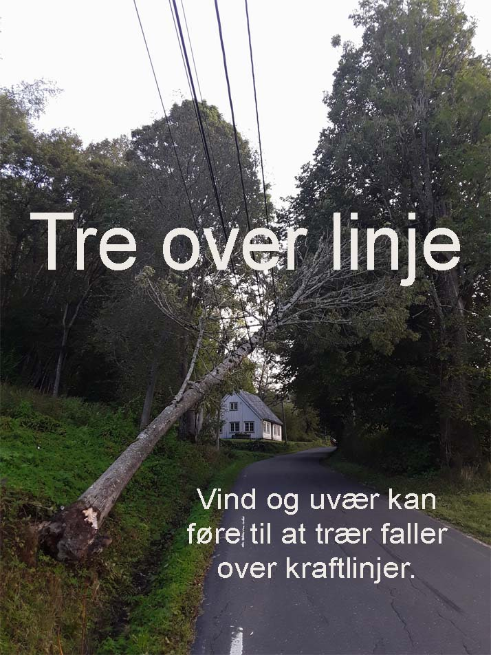Tre over linje
